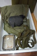 Box of original army issue items