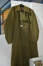 Original Australian army green great coat