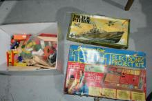 Qty of vintage games plus timber trains