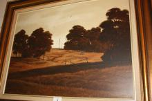 Michael Taylor, pastoral scene with grazing horse, oil on board, signed and dated 1980, 45 x 60cm