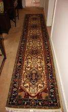 Afghan, pure wool, hand woven Chobi runner, 365 x 80cm