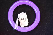 Purple jade bangle, circular form, rounded edges
