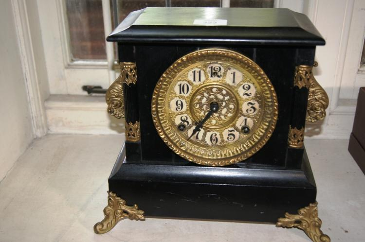 Antique American Gilbert Mantel Clock Comes With Key Pend