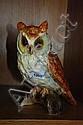 Jema ceramic figure of an owl sitting on a log