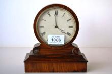 Antique rosewood cased clock,