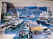 Charles Billich, hand signed lim/ed print 'Sydney