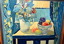 K. Reynolds, oil on board, still life with