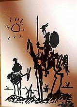 Pablo Picasso, lithographic print 'Don Quixote