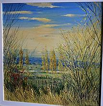 Colleen Parker oil, on board 'Richmond landscape'