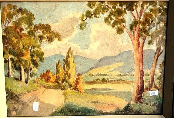 George Ansdell, watercolour, signed, 26 x 35cm