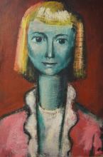 Herbert Kemble, (1894-1986), portrait - Green Girl