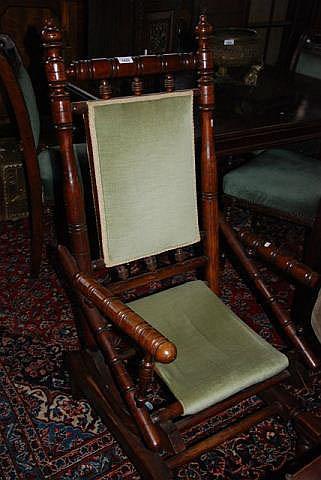 Antique Dexter Style Platform Rocking Chair With