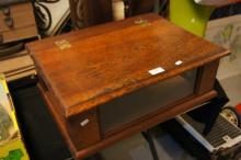 Antique cedar bible display box,