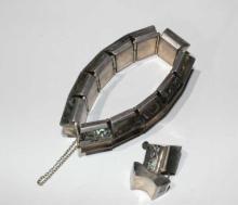 Sterling silve paua shell set, bracelet & matching