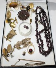 Qty jewellery incl. gents cufflinks, tie pins,
