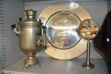 3 various white metal items to incl.