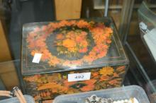 Floral design jewellery box to incl. qty of