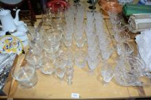 Crystal and glassware incl. champagne goblets,