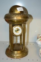 Brass form mantel clock by Meccedes