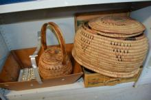 Various baskets and carry all plus