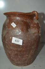 Qing style glazed pot, pinched design