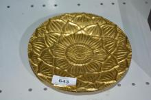 Gilt bronze dish in the form of a large lotus