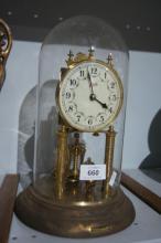 Schatz anniversary clock under dome,