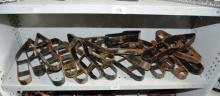 Lrg collection of vintage metal shoe moulds