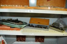 2 shelves incl calipers, alan keys, drill bits etc