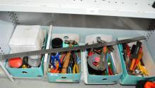 4 tins of hand tools,