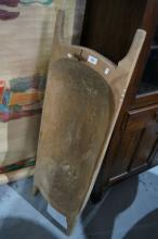 Antique French rustic timber dough bin,
