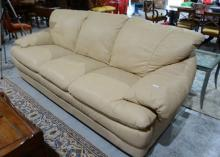 Natuzzi Italian made 3 seater leather sofa,