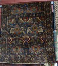 Persian Baluchi tribal rug, multi coloured