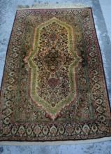 Vintage pure wool Kashmir rug,