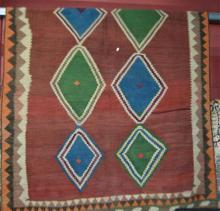 Pure wool hand woven Persian kilim rug,