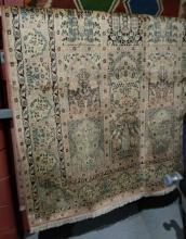 Fine Kashmiri silk rug, hand made,