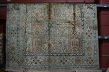 Fine Kashmiri silk rug,
