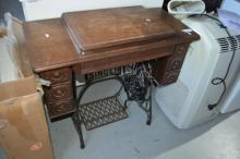 Singer treadle base sewing machine