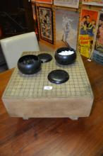 Vintage Chinese Go game timber playing table,