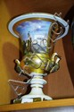 An antique French porcelain urn, Campana style