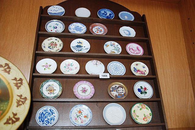 A set of 25 miniature porcelain plates, various
