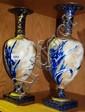 An antique pair of Doulton Burslem vases