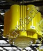 Art deco hanging glass light fitting, cream &