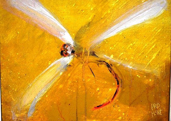 Kevin Charles (Pro) Hart (1928-2006, Australia),'Dragonfly', signed, oil on board, 34.5 x 44.5cm