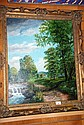 M. Komedera oil on canvas, landscape scenes with