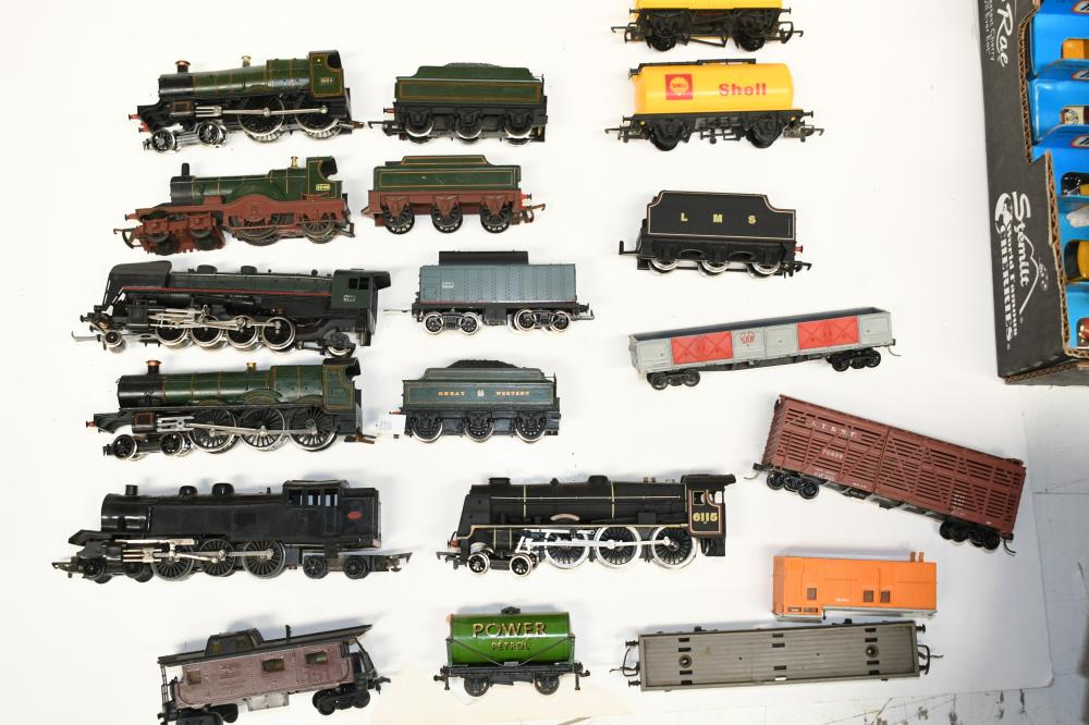 Collection of HO Scale locomotives and tenders