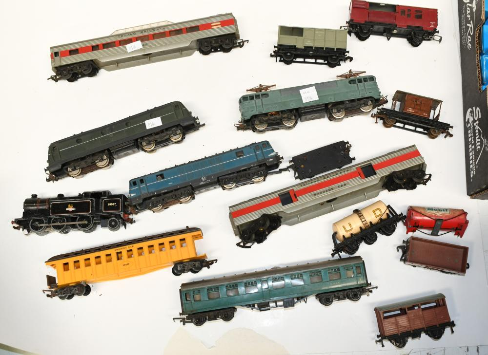 Collection of HO Scale model railway locomotives