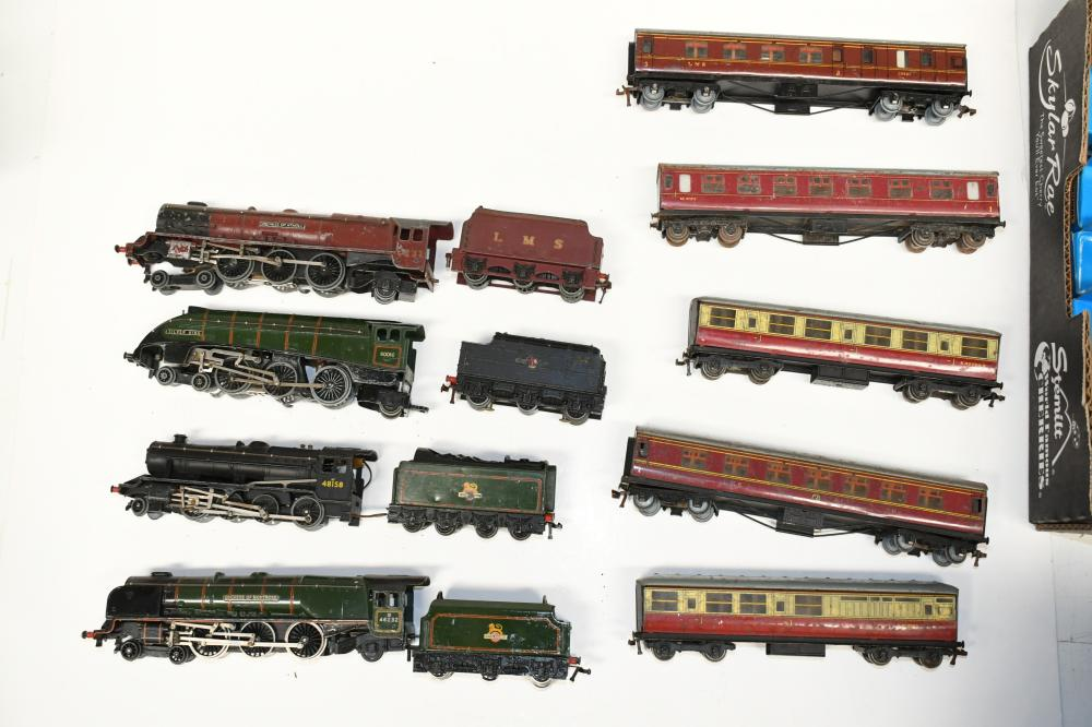 Collection of diecast model HO Scale locomotives