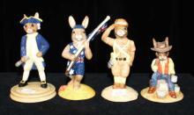 4 Australian Royal Doulton Bunnykins figurines,