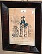 Antique hand-coloured lithograph -